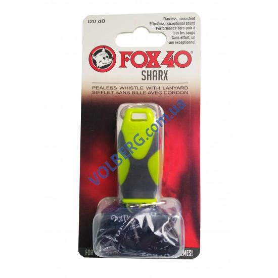 Свисток суддівський пластиковий Fox 40 Sharx Pealess