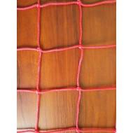 Професійна сітка для пляжного волейболу з тросом (червоно-жовта)